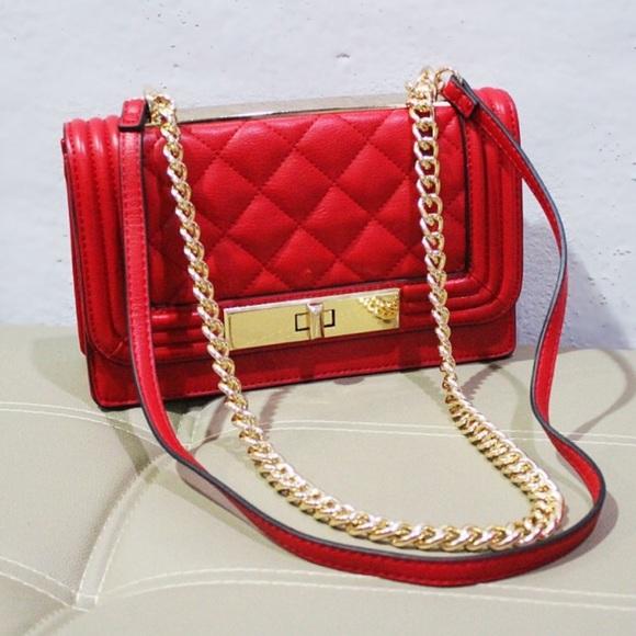 01d8c9796ae Aldo Handbags - Aldo Derogali Chained Handbag Crossbody Red